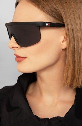 Женские солнцезащитные очки TOMMY HILFIGER черного цвета, арт. 1657/G 08A | Фото 2
