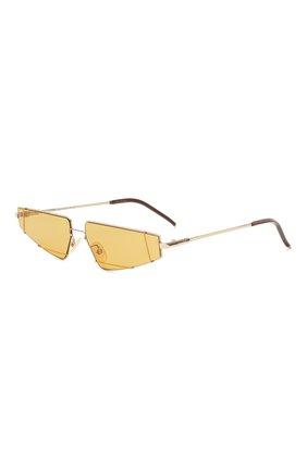 Мужские солнцезащитные очки FENDI золотого цвета, арт. M0054 01Q | Фото 1