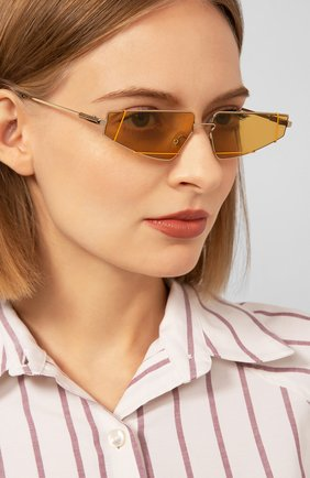 Мужские солнцезащитные очки FENDI золотого цвета, арт. M0054 01Q | Фото 2