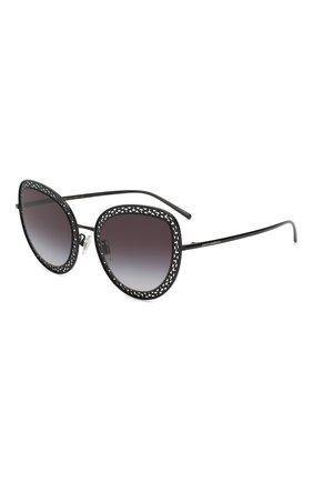 Мужские солнцезащитные очки DOLCE & GABBANA черного цвета, арт. 2226-01/8G | Фото 1