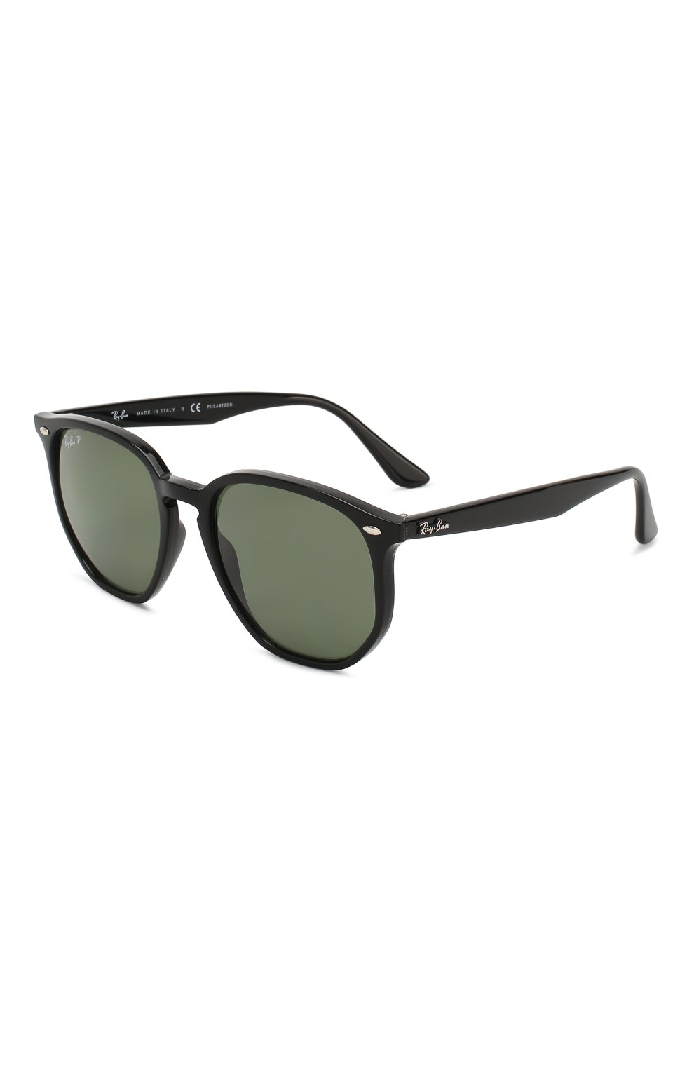 Женские солнцезащитные очки RAY-BAN темно-зеленого цвета, арт. 4306-601/9A   Фото 1