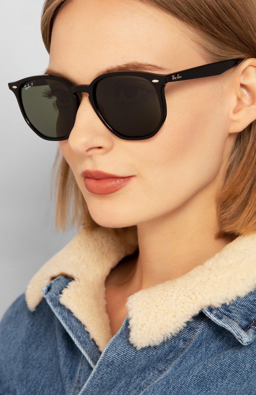 Женские солнцезащитные очки RAY-BAN темно-зеленого цвета, арт. 4306-601/9A   Фото 2