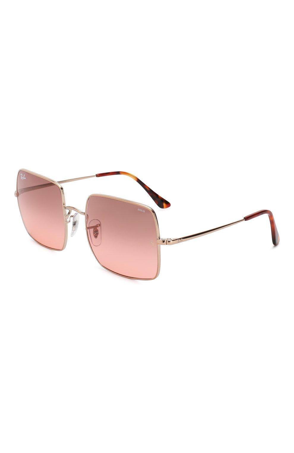 Женские солнцезащитные очки RAY-BAN розового цвета, арт. 1971-9151AA | Фото 1