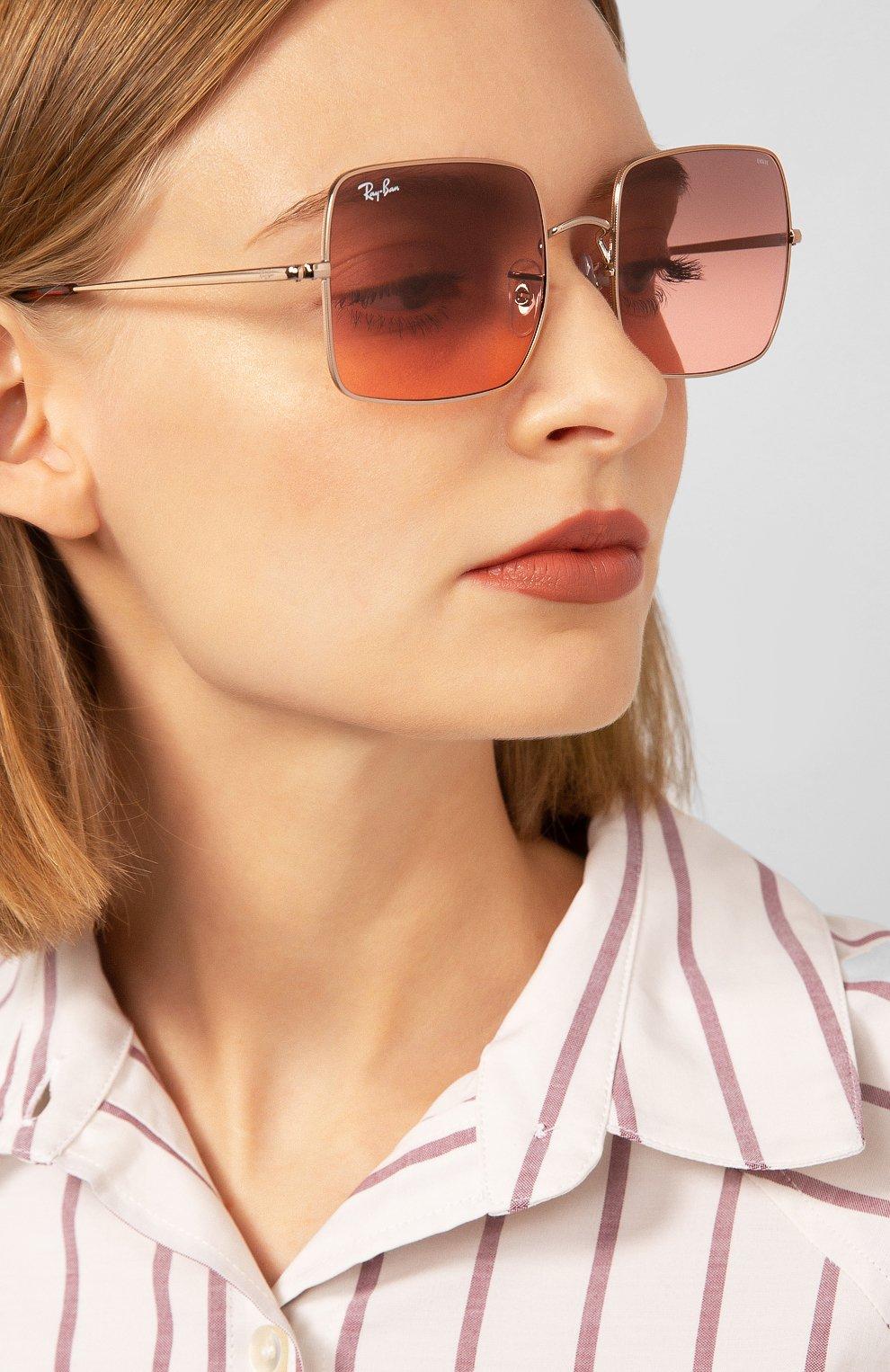 Женские солнцезащитные очки RAY-BAN розового цвета, арт. 1971-9151AA | Фото 2