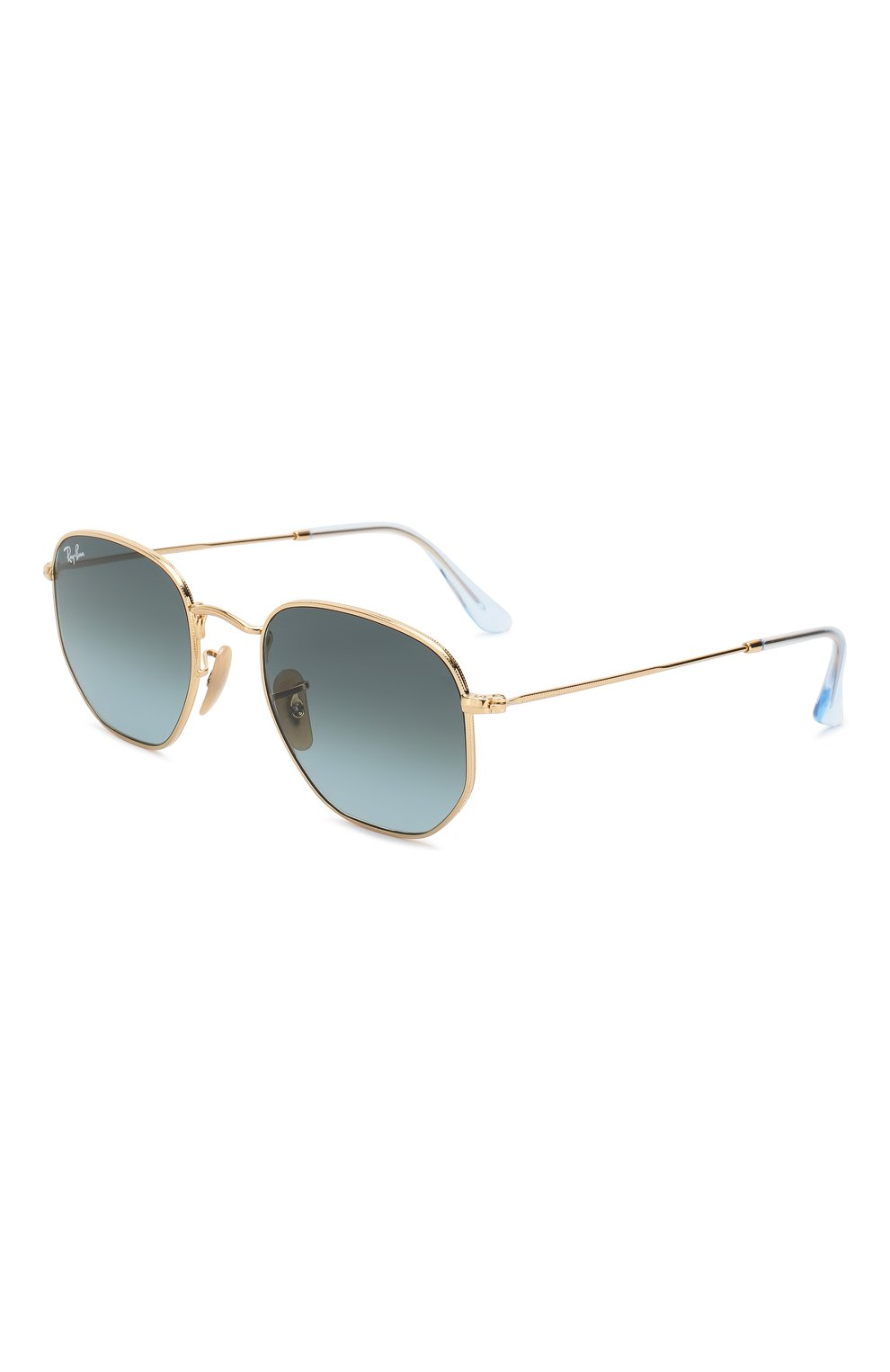 Женские солнцезащитные очки RAY-BAN голубого цвета, арт. 3548N-91233M | Фото 1
