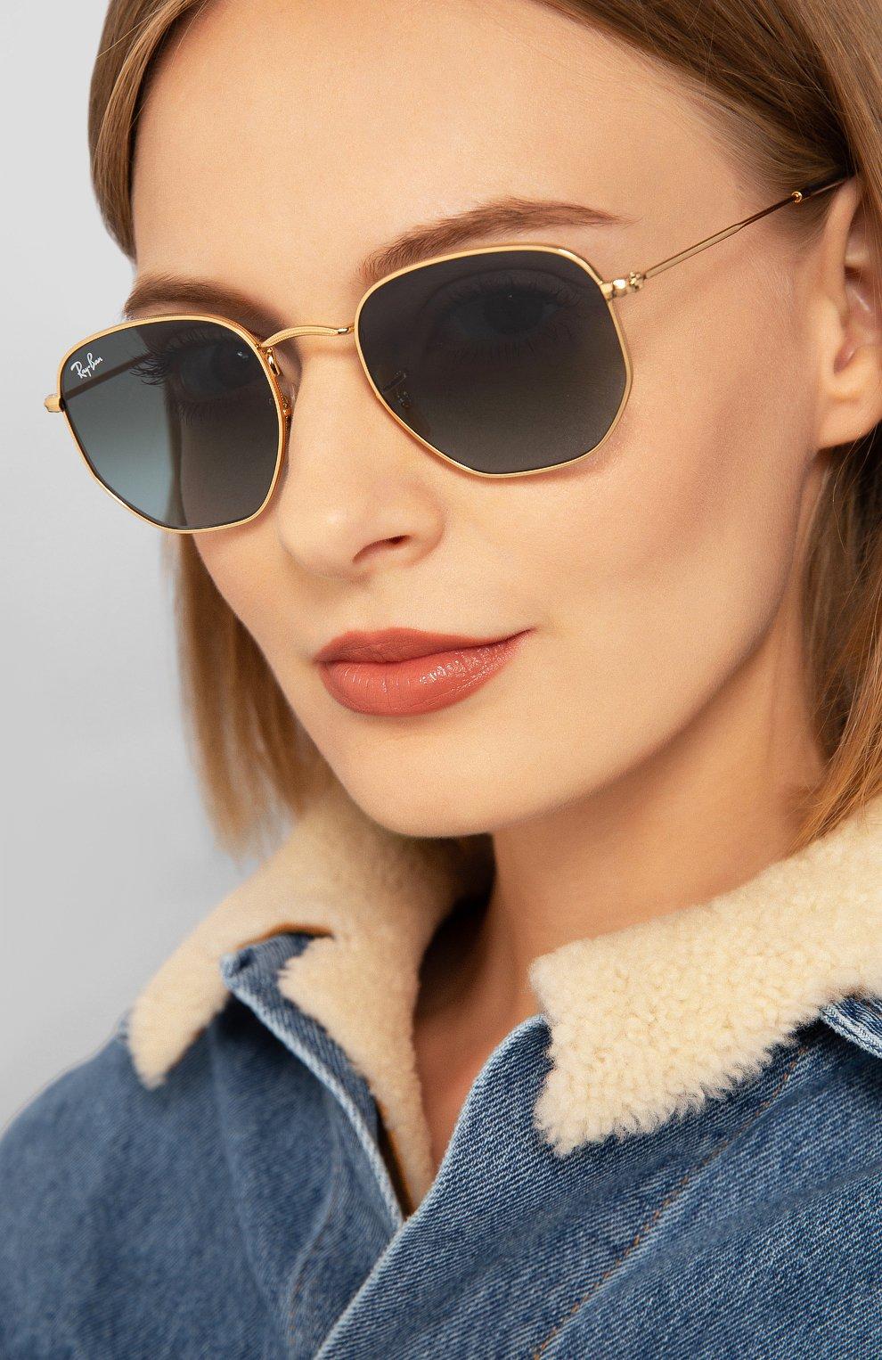 Женские солнцезащитные очки RAY-BAN голубого цвета, арт. 3548N-91233M | Фото 2