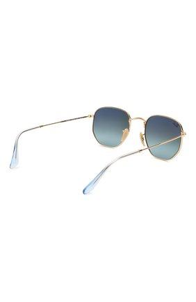 Женские солнцезащитные очки RAY-BAN голубого цвета, арт. 3548N-91233M | Фото 4