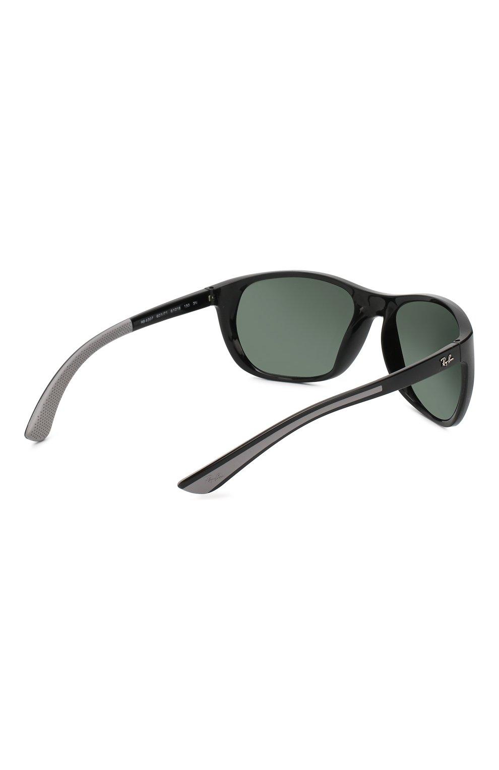 Женские солнцезащитные очки RAY-BAN черного цвета, арт. 4307-601/71   Фото 4