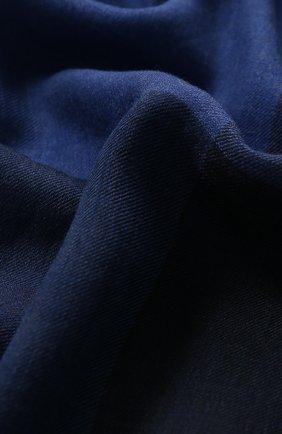 Женский кашемировый шарф GIORGIO ARMANI синего цвета, арт. 795217/9A139 | Фото 2 (Материал: Кашемир, Шерсть; Статус проверки: Проверено, Проверена категория)