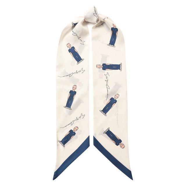 Шелковый шарф-бандо Giorgio Armani