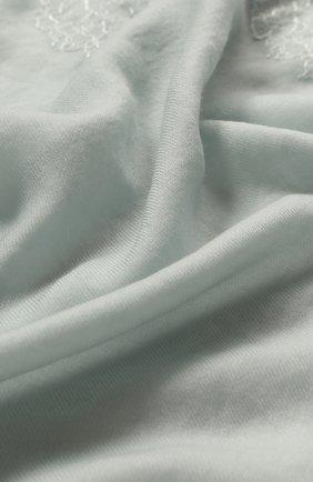 Женская шерстяной палантин VINTAGE SHADES светло-голубого цвета, арт. 13639 | Фото 2