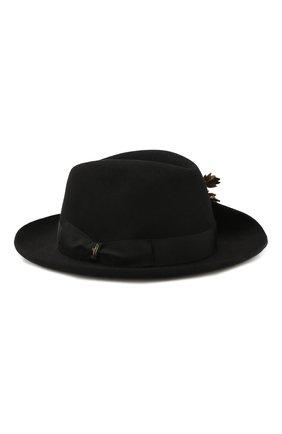 Женская фетровая шляпа BORSALINO черного цвета, арт. 380012   Фото 1