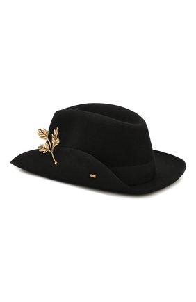 Женская фетровая шляпа BORSALINO черного цвета, арт. 380012   Фото 2
