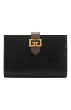 Женские кожаный кошелек gv3 GIVENCHY черного цвета, арт. BB601GB056 | Фото 1