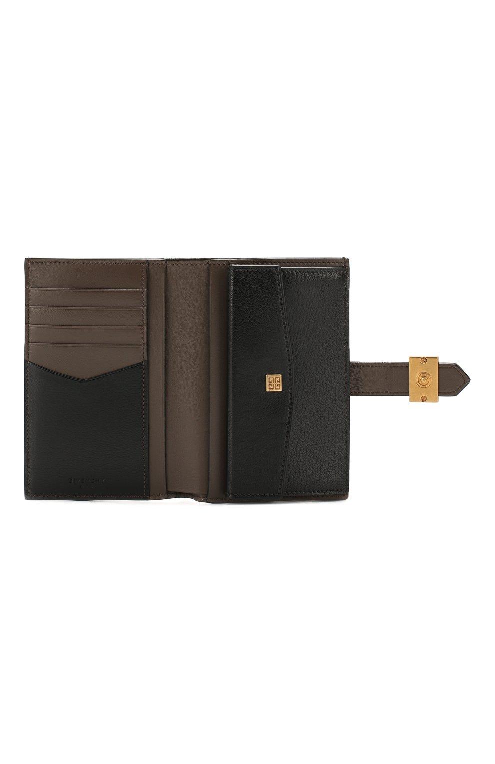 Женские кожаный кошелек gv3 GIVENCHY черного цвета, арт. BB601GB056 | Фото 3