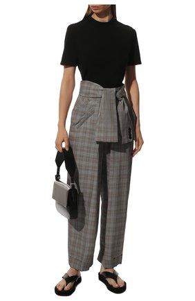 Женские брюки из смеси шерсти и вискозы ALEXANDER WANG бежевого цвета, арт. 1WC2194160 | Фото 2