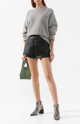 Женская шерстяной свитер ALEXANDERWANG.T светло-серого цвета, арт. 4KC2191071 | Фото 2