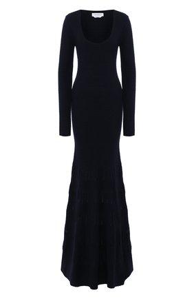 Женское платье из смеси шерсти и шелка GABRIELA HEARST темно-синего цвета, арт. 119913 A013 | Фото 1