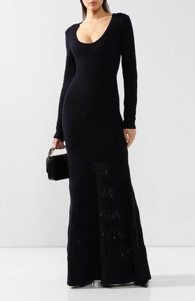 Женское платье из смеси шерсти и шелка GABRIELA HEARST темно-синего цвета, арт. 119913 A013 | Фото 2