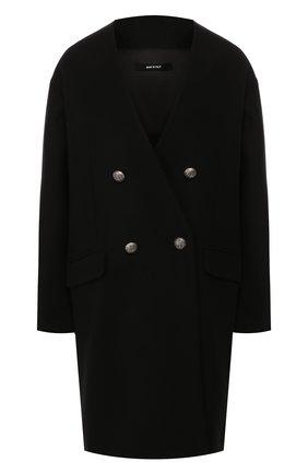 Женское двубортное пальто ISABEL BENENATO черного цвета, арт. DW03F19 | Фото 1