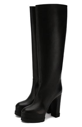 Женские кожаные сапоги CASADEI черного цвета, арт. 1S022N1211TANG09000 | Фото 1
