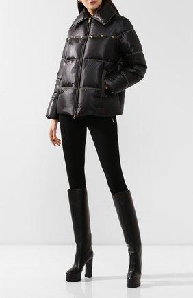 Женские кожаные сапоги CASADEI черного цвета, арт. 1S022N1211TANG09000 | Фото 2