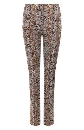 Женские хлопковые брюки VICTORIA BECKHAM хаки цвета, арт. TR SLM 21004C | Фото 1