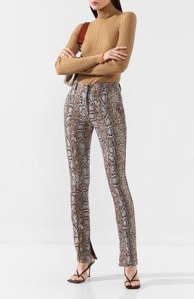 Женские хлопковые брюки VICTORIA BECKHAM хаки цвета, арт. TR SLM 21004C | Фото 2