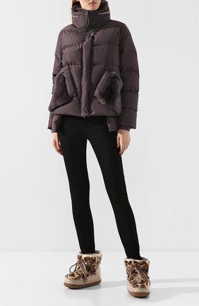 Женский пуховая куртка DIEGO M темно-серого цвета, арт. 19IM-G757.0TC | Фото 2