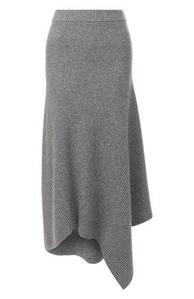 Женская юбка из смеси шерсти и кашемира PRINGLE OF SCOTLAND серого цвета, арт. WSF060 | Фото 1