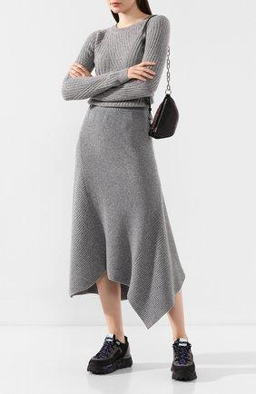 Женская юбка из смеси шерсти и кашемира PRINGLE OF SCOTLAND серого цвета, арт. WSF060 | Фото 2