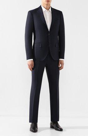 Мужские кожаные оксфорды HUGO черного цвета, арт. 50414568   Фото 2