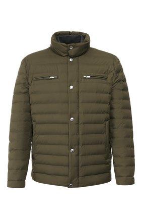 Мужская пуховая куртка BRUNELLO CUCINELLI хаки цвета, арт. MM4591387 | Фото 1