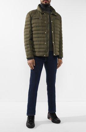 Мужская пуховая куртка BRUNELLO CUCINELLI хаки цвета, арт. MM4591387 | Фото 2