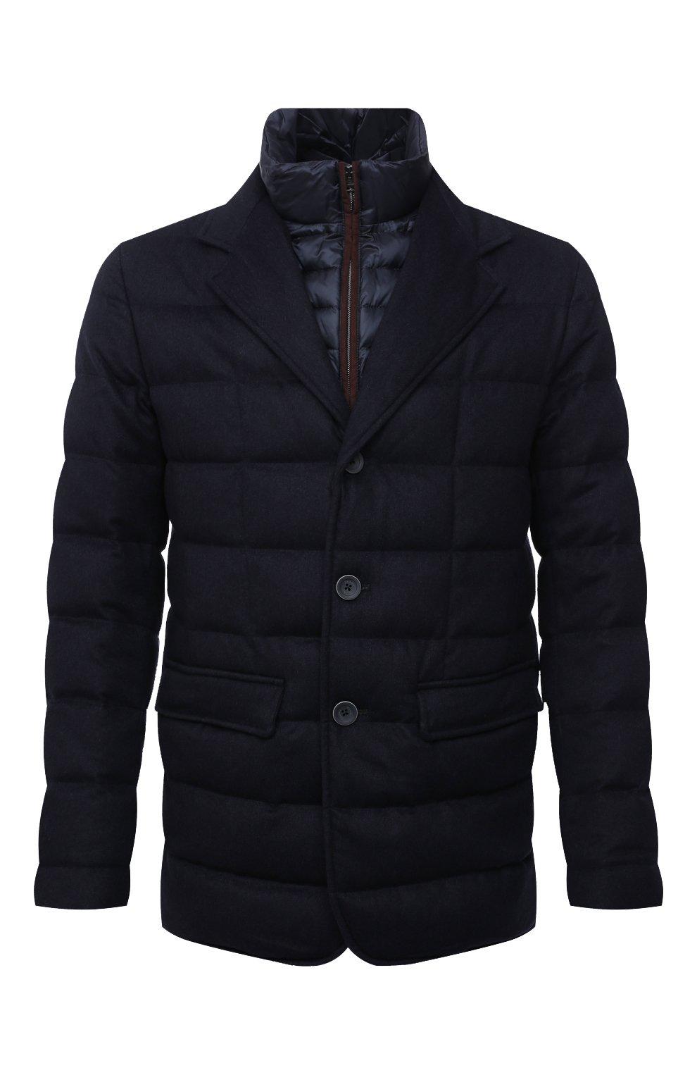 Мужская пуховая куртка HERNO темно-синего цвета, арт. PI0583U/38087 | Фото 1