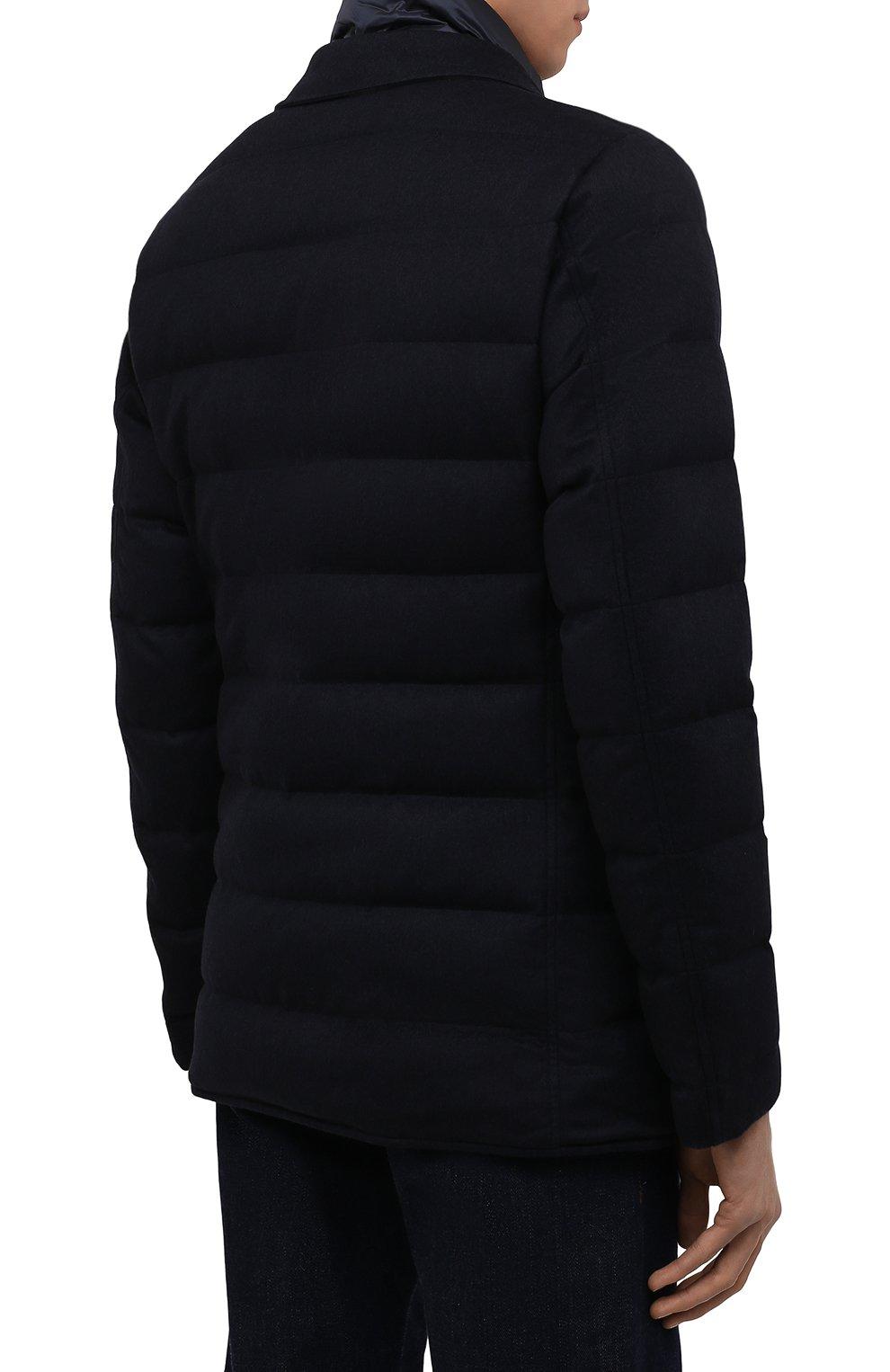 Мужская пуховая куртка HERNO темно-синего цвета, арт. PI0583U/38087 | Фото 4