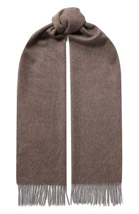 Мужской кашемировый шарф ANDREA CAMPAGNA бежевого цвета, арт. 181 DES 840MI/SCARF | Фото 1