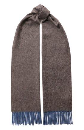 Мужской кашемировый шарф ANDREA CAMPAGNA коричневого цвета, арт. 181 DES 840MI/SCARF | Фото 1