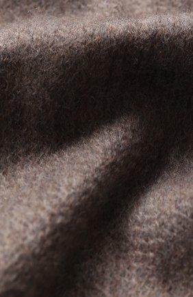 Мужской кашемировый шарф ANDREA CAMPAGNA коричневого цвета, арт. 181 DES 840MI/SCARF | Фото 2