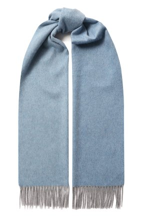 Мужской кашемировый шарф ANDREA CAMPAGNA голубого цвета, арт. 181 DES 840MI/SCARF | Фото 1