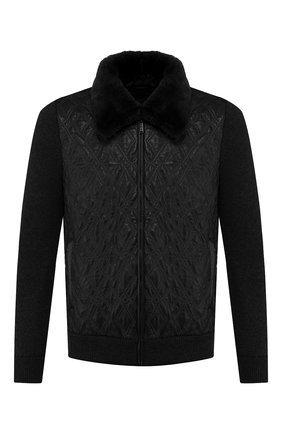 Комбинированная куртка с меховой отделкой | Фото №1