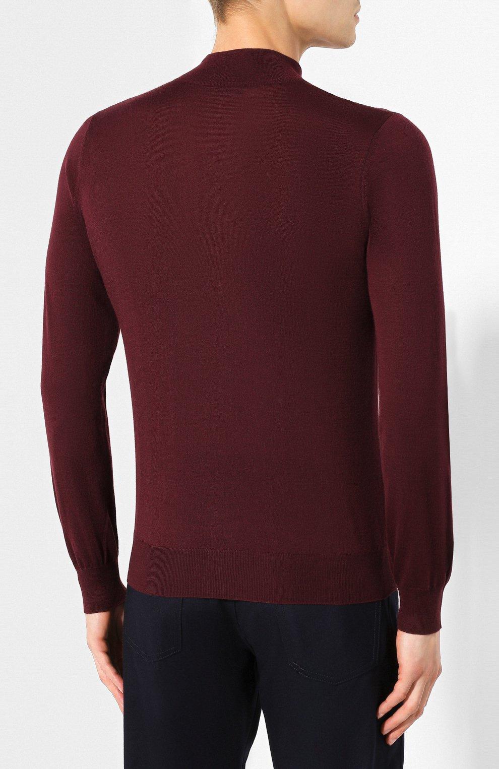 Мужской джемпер из смеси кашемира и шелка ZILLI бордового цвета, арт. MBS-CZ043-CHEC1/ML01 | Фото 4