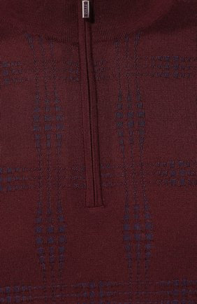Мужской джемпер из смеси кашемира и шелка ZILLI бордового цвета, арт. MBS-CZ043-CHEC1/ML01 | Фото 5