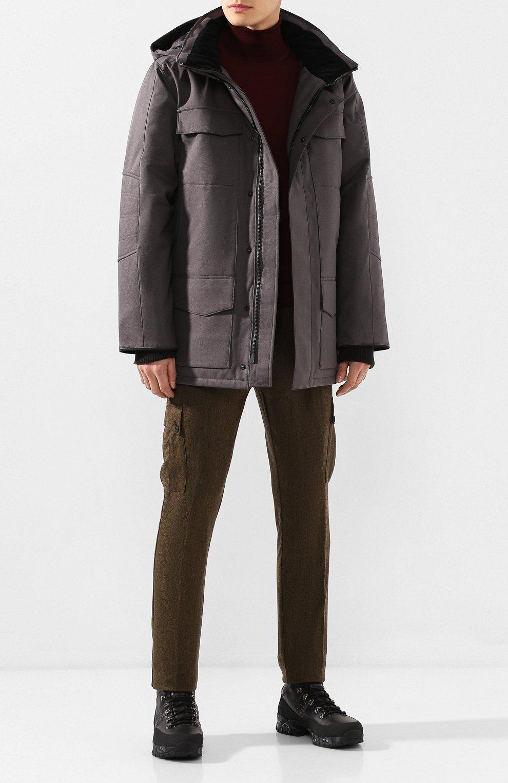 Мужская пуховая парка windermere CANADA GOOSE серого цвета, арт. 2579M | Фото 2