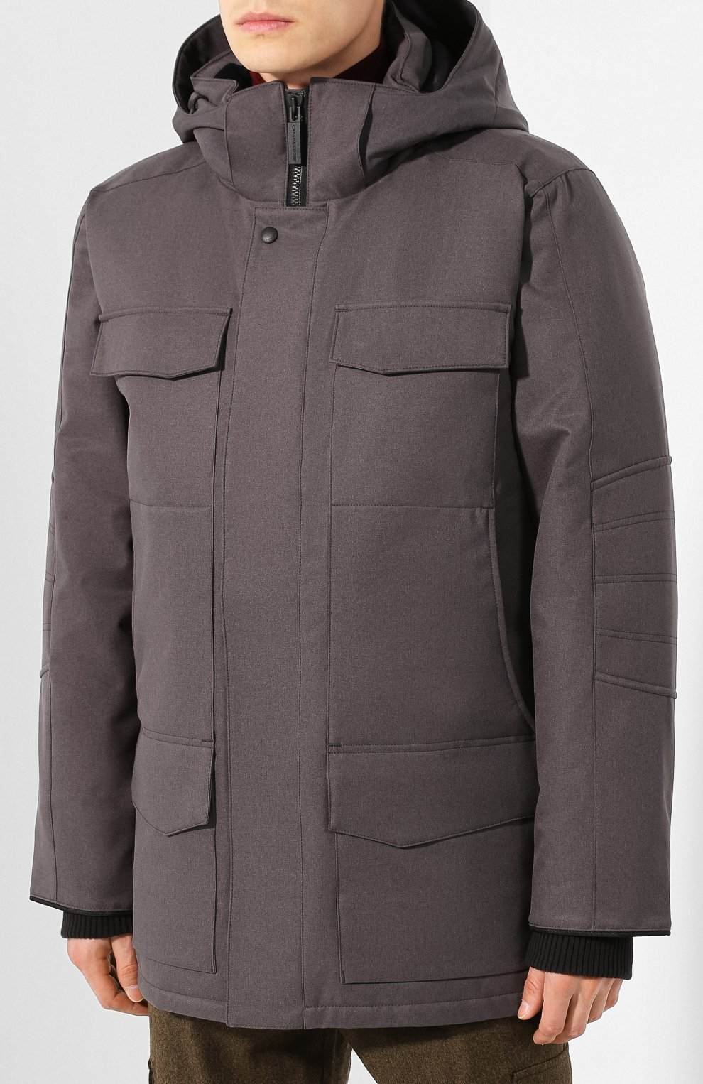 Мужская пуховая парка windermere CANADA GOOSE серого цвета, арт. 2579M | Фото 3