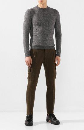 Мужские шерстяные брюки-карго ANDREA CAMPAGNA хаки цвета, арт. SC CARG0/RD5470 | Фото 2 (Материал подклада: Купро; Материал внешний: Шерсть; Статус проверки: Проверена категория; Длина (брюки, джинсы): Стандартные; Силуэт М (брюки): Карго; Случай: Повседневный; Стили: Кэжуэл)