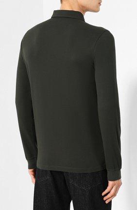 Мужское хлопковое поло LORO PIANA темно-зеленого цвета, арт. FAI2713 | Фото 4