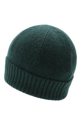 Мужская кашемировая шапка ALLUDE темно-зеленого цвета, арт. 195/30033 | Фото 2