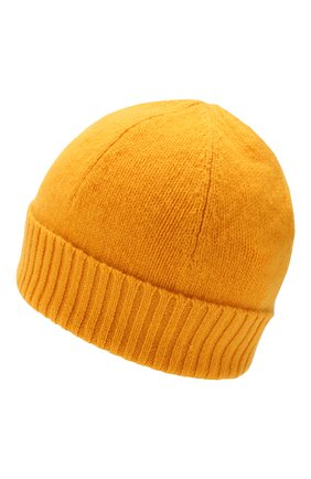 Мужская кашемировая шапка ALLUDE желтого цвета, арт. 195/30033 | Фото 2
