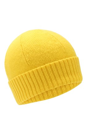 Мужская кашемировая шапка ALLUDE желтого цвета, арт. 195/30033 | Фото 1